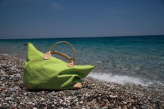Beach bag, summer holiday Royalty Free Stock Image