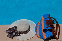 Beach bag on summer vacation Royalty Free Stock Photography