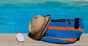 Beach bag on summer vacation Stock Photography