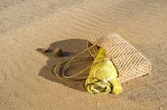 Beach bag Royalty Free Stock Images