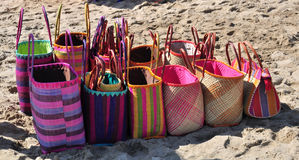 Beach bags for sale Stock Image