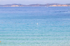The beach at Baja Sardinia in Sardinia, italy. Beautiful beach at Baja Sardinia in Sardinia, italy Royalty Free Stock Image