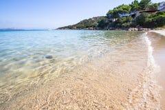 The beach at Baja Sardinia in Sardinia, italy. Beautiful beach at Baja Sardinia in Sardinia, italy Stock Photography