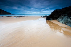 Beach of Bakio in Bizkaia Stock Image