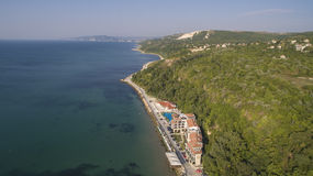 Beach in Balchik from Above, Bulgaria Stock Images