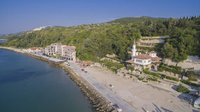 Beach in Balchik from Above, Bulgaria Royalty Free Stock Photo