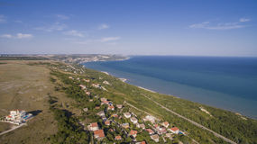 Beach in Balchik from Above, Bulgaria Royalty Free Stock Image