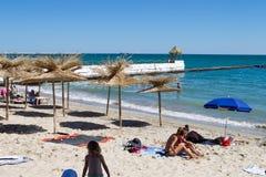 Beach in Balchik royalty free stock image