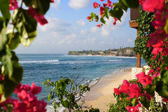 Beach in Bali stock photography