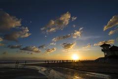 Beach Bali sunset Stock Image