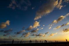 Beach Bali sunset Royalty Free Stock Photos