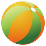 Beach Ball. Brightly colored beach ball isolated against a white background royalty free illustration