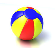 Beach ball. Colorful beach ball on the white background Stock Images