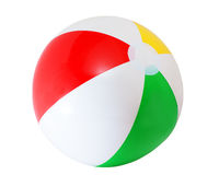 Beach ball. Colorful beach ball isolated on white Royalty Free Stock Photos