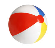 Beach ball. Isolated on white background royalty free stock photography