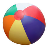 Beach ball. Colorful beach ball isolated on white stock illustration