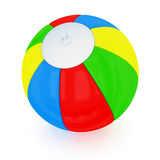 Beach Ball. Colorful beach ball. Isolated on white background Royalty Free Stock Photo