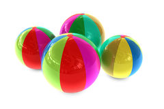 Beach Ball. 3D rendered illustration of different color beach balls Royalty Free Stock Photography