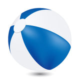 Beach Ball. Summer beach ball in blue and white colors Stock Photography