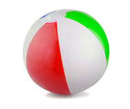Beach Ball. On a white backgraund royalty free stock image