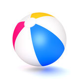 Beach Ball. A classic beach ball  on white background. Computer generated image with clipping path Royalty Free Stock Photography