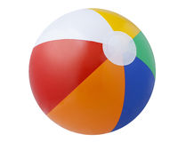 Beach ball. A beach ball isolated on a white background