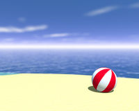 Beach ball. 3d rendered beach ball. Coastline travel concept Royalty Free Stock Photography