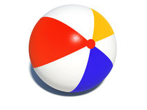 Beach ball. Colourful beach ball over white Royalty Free Stock Image
