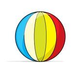 Beach ball. Colorful illustrated beach ball toy Vector Illustration