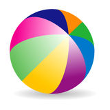Beach ball. Beach color ball on isolated background Royalty Free Stock Image