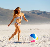 Beach ball babe Stock Photography