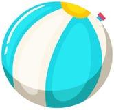 Beach ball bianco e blu Illustrazione Vettoriale