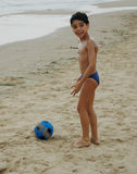 Beach ball boy Stock Image