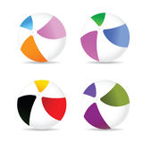 Beach ball color art vector. Beach ball color vector illustration royalty free illustration