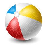 Beach Ball. Colorful Beach Ball. Bright And Glossy Ball For Fun At The Beach. Vector Illustration.  On White Background Stock Photo