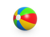 Beach ball. Colorful summer beach ball isolated on white background Stock Photos