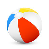 Beach ball. Colorful beach ball  on white background, illustration Stock Photography