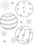 Beach ball coloring page Stock Image