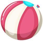 Beach ball Colourful su fondo bianco Illustrazione di Stock