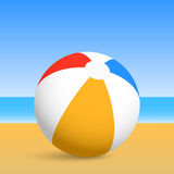 Beach ball. 2d illustration Stock Photography