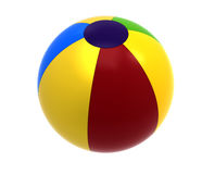 Beach ball, 3d rendering Stock Images