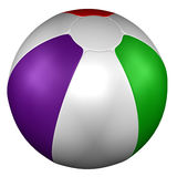 Beach Ball. 3D rendering. Beach Ball, isolated on white background. 3D rendering Royalty Free Stock Image