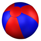 Beach Ball. 3D rendering. Beach Ball, isolated on white background. 3D rendering Stock Photography