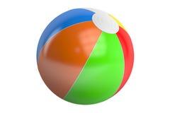Beach ball di colore, rappresentazione 3D Fotografie Stock