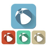 Beach ball flat Icon Stock Image