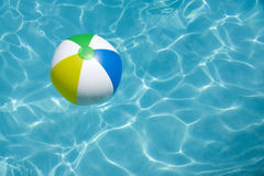 Beach Ball Floating in Pool Stock Photography
