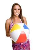 Beach Ball Girl Stock Photos
