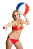 Beach Ball Girl Stock Image