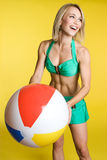 Beach Ball Girl royalty free stock images