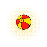 Beach ball icon, comics style Stock Images